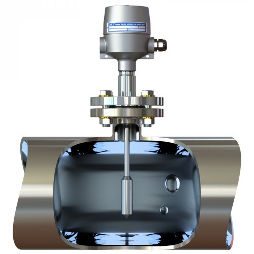 XL7 viscometer with flanged connection in pipe tee