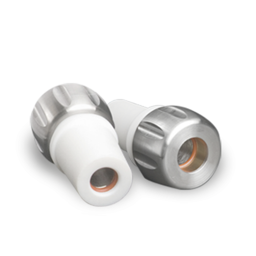 Two Hydragland sanitary adaptors