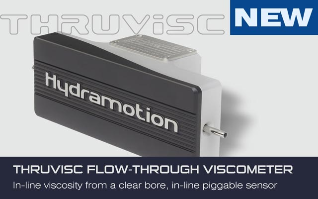 Thruvisc - In-line viscosity from a clear bore, in-line piggable sensor